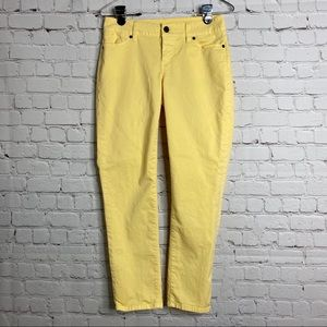 Talbot's Yellow Signature Ankle Pants 2P 26